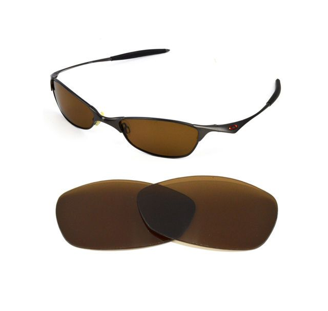 New Polarized Bronze Replacement Lens For Oakley Wiretap
