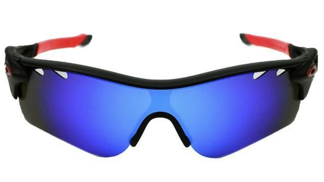 New Polarized Vented Blue Custom Lens For Oakley Radarlock