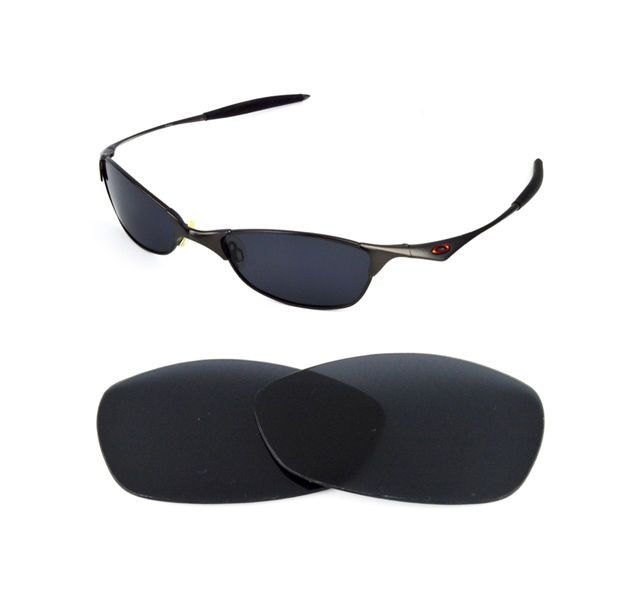 73f1abaf0f NEW POLARIZED BLACK REPLACEMENT LENS FOR OAKLEY VINTAGE WIRETAP SUNGLASSES