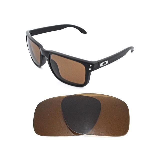 9d8a1bc1e4 NEW POLARIZED BRONZE REPLACEMENT LENS FOR OAKLEY HOLBROOK SUNGLASSES