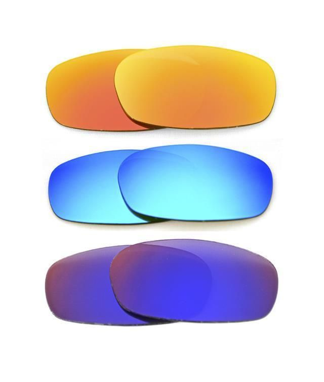 cd5aa7905bc NEW POLARIZED CUSTOM FIRE BLUE RED LENS FOR OAKLEY SQUARE WIRE 2.0  SUNGLASSES
