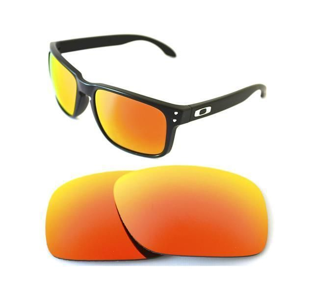 b0349b5561a NEW POLARIZED CUSTOM FIRE RED LENS FOR OAKLEY HOLBROOK SUNGLASSES