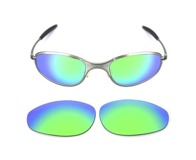 b1f2004958 NEW POLARIZED CUSTOM GREEN LENS FOR OAKLEY A WIRE THICK SUNGLASSES