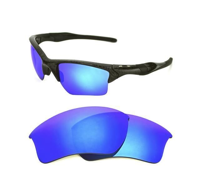 951c7377623 NEW POLARIZED CUSTOM ICE BLUE XL LENS FOR OAKLEY HALF JACKET 2.0 SUNGLASSES