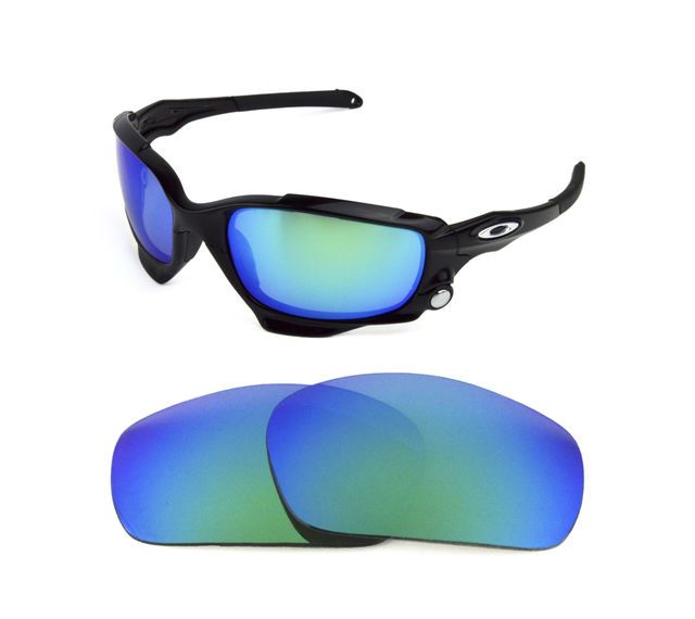 6ad8b951408 NEW POLARIZED GREEN REPLACEMENT LENS FOR OAKLEY JAWBONE RACING JACKET  SUNGLASSES