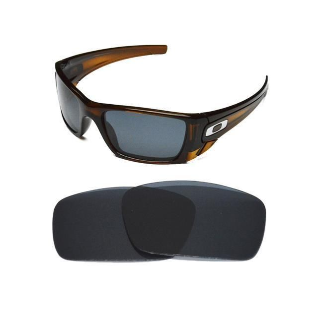 1671b686cd NEW POLARIZED REPLACEMENT BLACK LENS FOR OAKLEY FUEL CELL SUNGLASSES