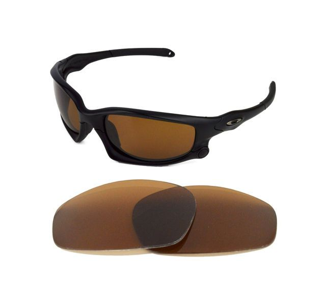 3fa94ee869a NEW POLARIZED REPLACEMENT BRONZE LENS FOR OAKLEY SPLIT JACKET SUNGLASSES