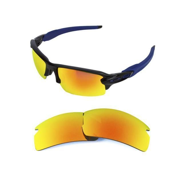 c84cec8ebb NEW POLARIZED REPLACEMENT FIRE RED LENS FOR OAKLEY FLAK JACKET 2.0  SUNGLASSES