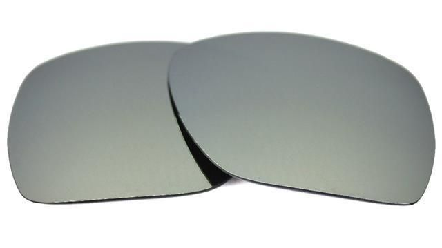 4963d629c6 NEW POLARIZED REPLACEMENT SILVER ICE LENS 4 OAKLEY PLAINTIFF SQUARED  SUNGLASSES