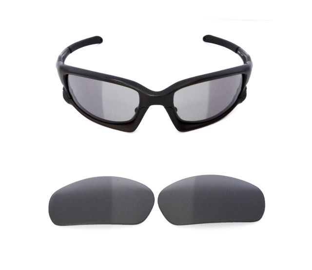 NEW POLARIZED TRANSITION PHOTOCHROMIC REPLACEMENT LENS FOR OAKLEY SPLIT  JACKET 52a080976ee1