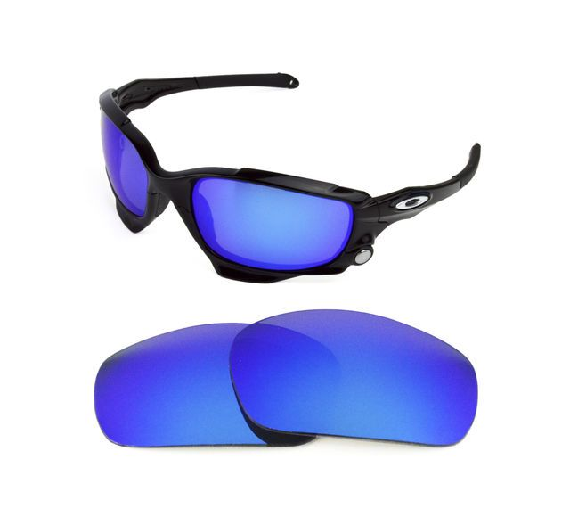 583947124c NEW POLARIZED VENTED ICE BLUE REPLACEMENT LENS FOR OAKLEY JAWBONE RACING  JACKET