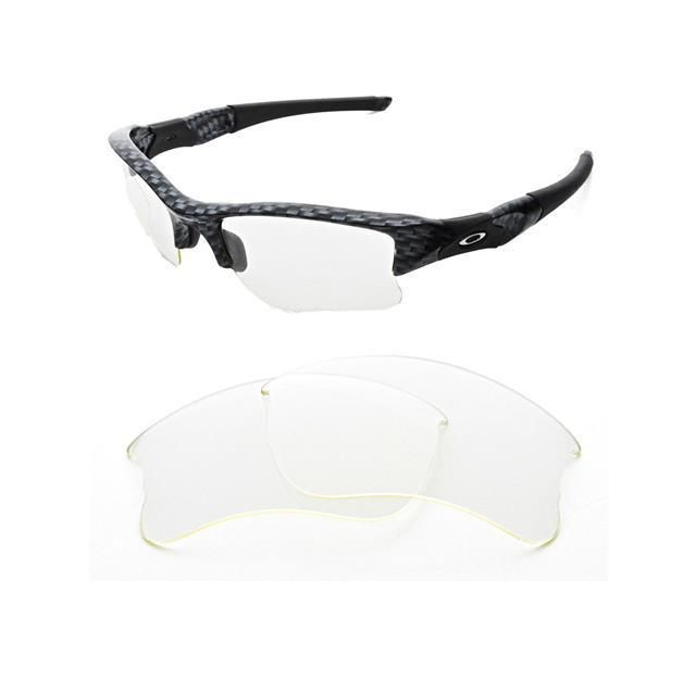 5cd649e9d13 NEW TRANSPARENT CUSTOM CLEAR XLJ LENS FOR OAKLEY FLAK JACKET SUNGLASSES